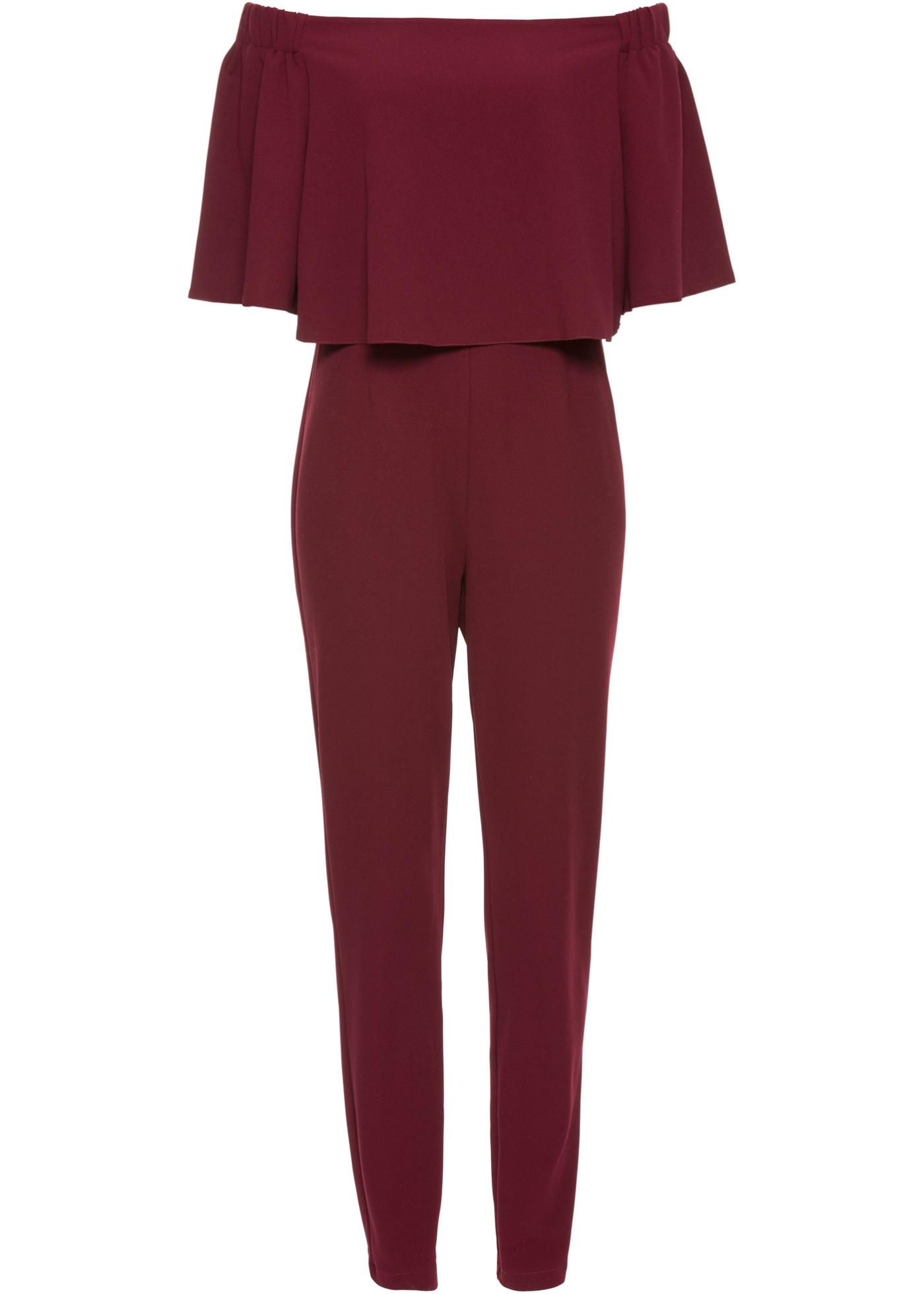 Steckdose online viele modisch zuverlässiger Ruf BODYFLIRT Jumpsuit mit Carmen-Ausschnitt in rot für Damen von bonprix