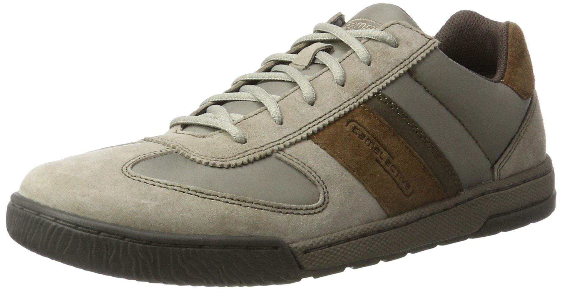 camel active Herren Casablanca 50 Sneakers, Grau (01 Grey Kombi), 44 EU