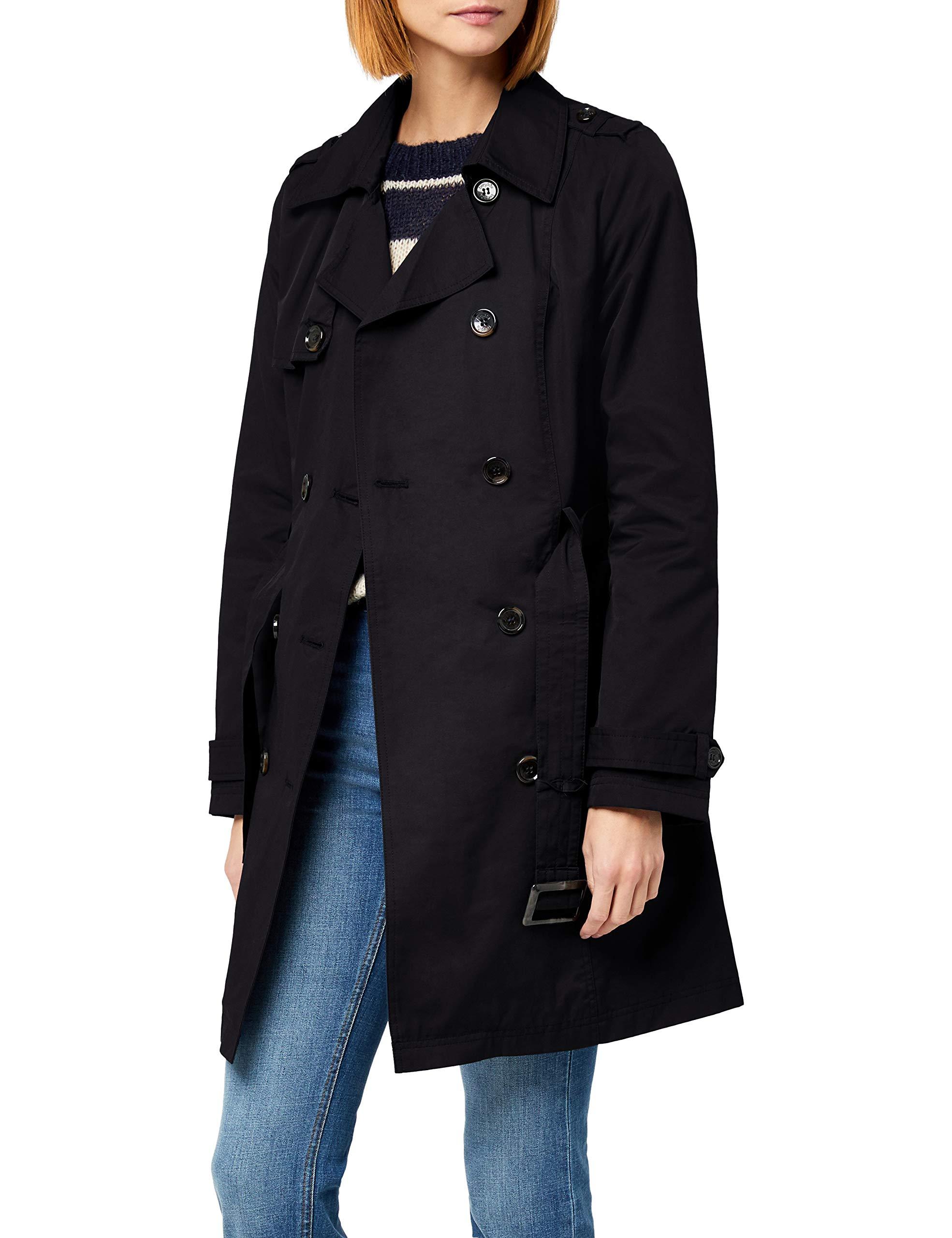 new style 30286 ca7ab Berydale Damen Trenchcoat mit Gürtel, Schwarz,38