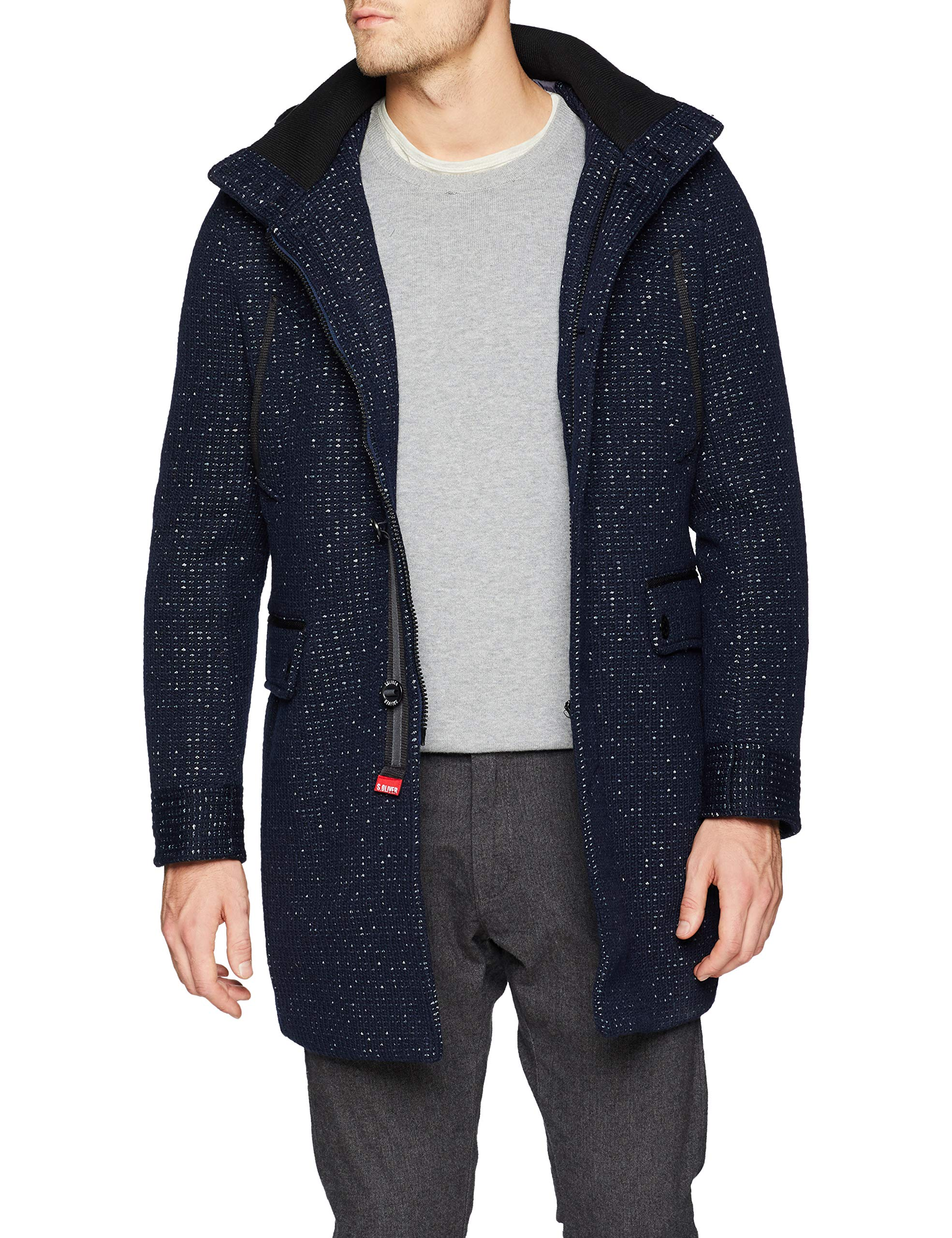 outlet boutique wholesale online most popular s.Oliver Herren 28.811.52.8513 Mantel, Blau (Blue Melange 59w0), XXX-Large