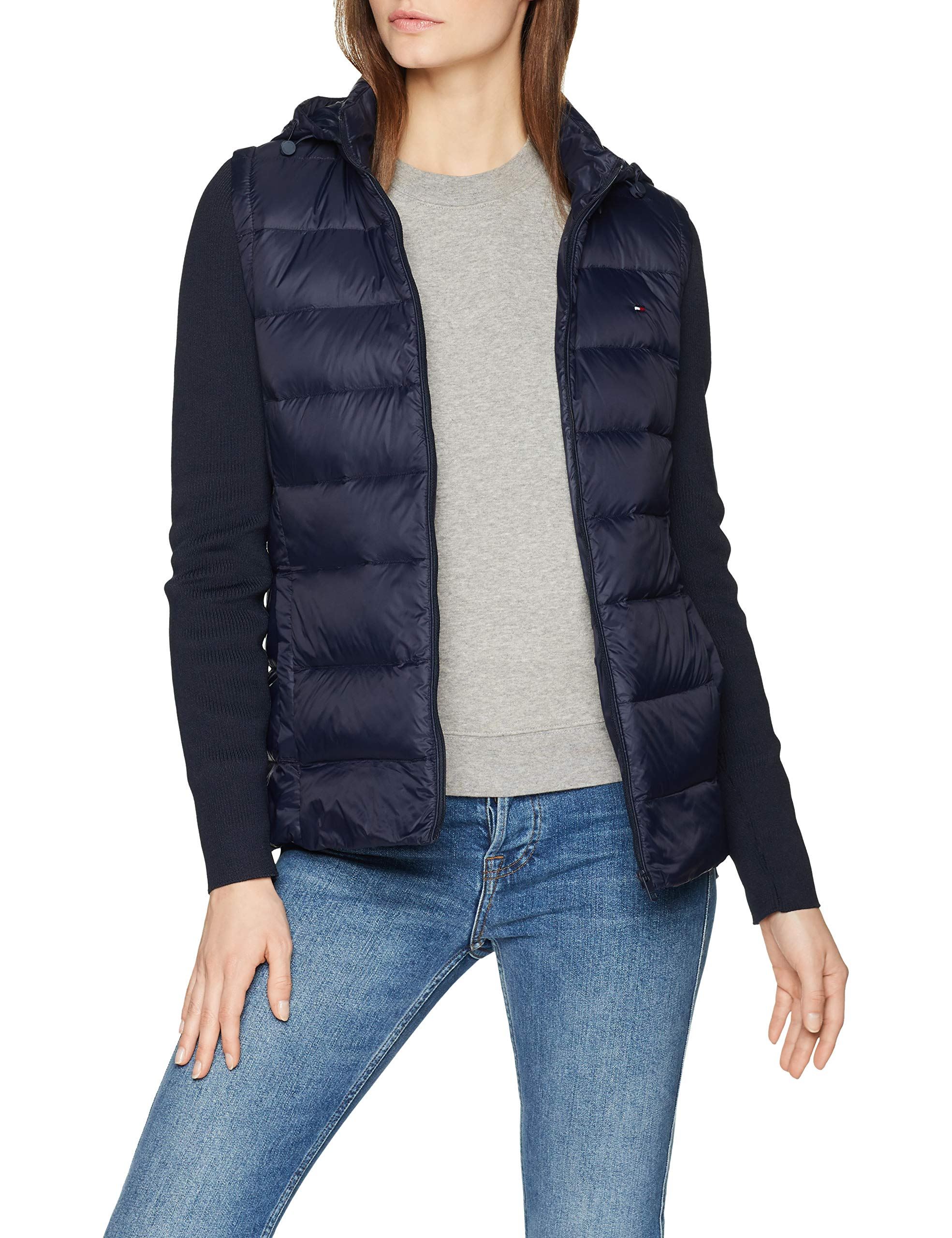the latest 379c0 530f8 Tommy Hilfiger Damen Daunenjacke Jacke New Isaac Combo LW DOWN JKT  WW0WW24008, Gr. X-Small (Herstellergröße: XS), Blau (Midnight 403)