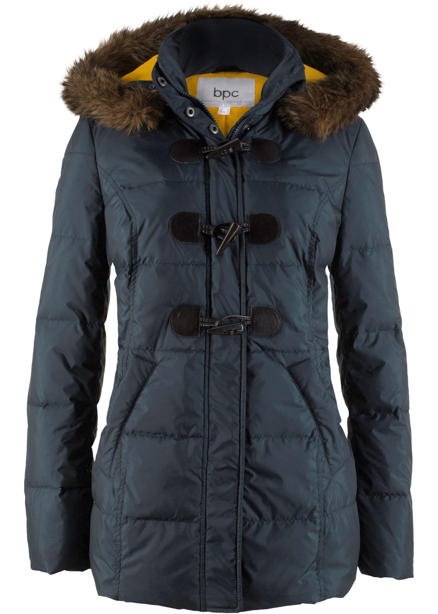 bpc bonprix collection Duffle Jacke (leichte Daune) langarm in blau für Damen von bonprix