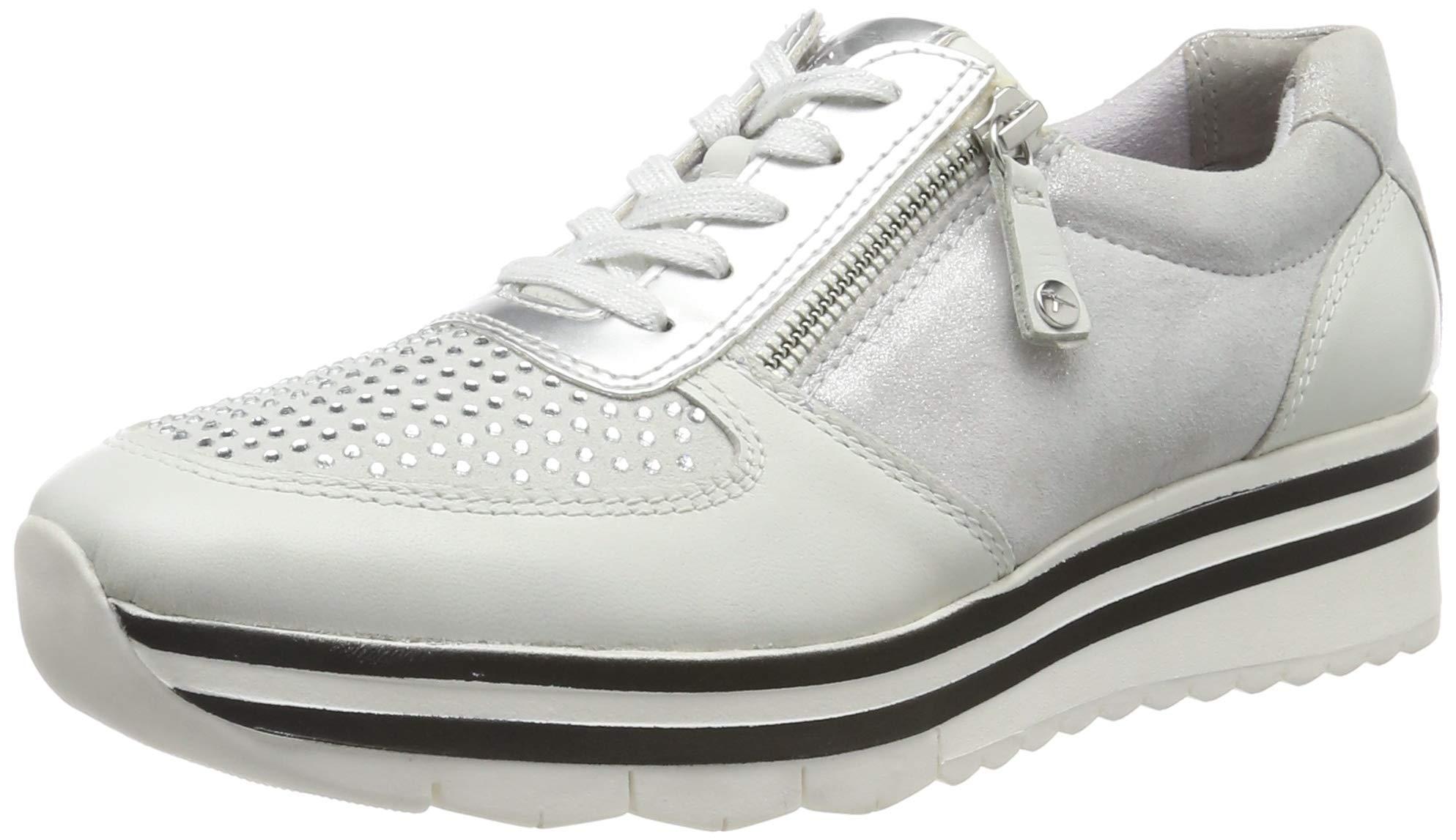Tamaris Damen 1 1 23740 33 948 Sneaker, Silber (SILVER COMB 948), 40 EU