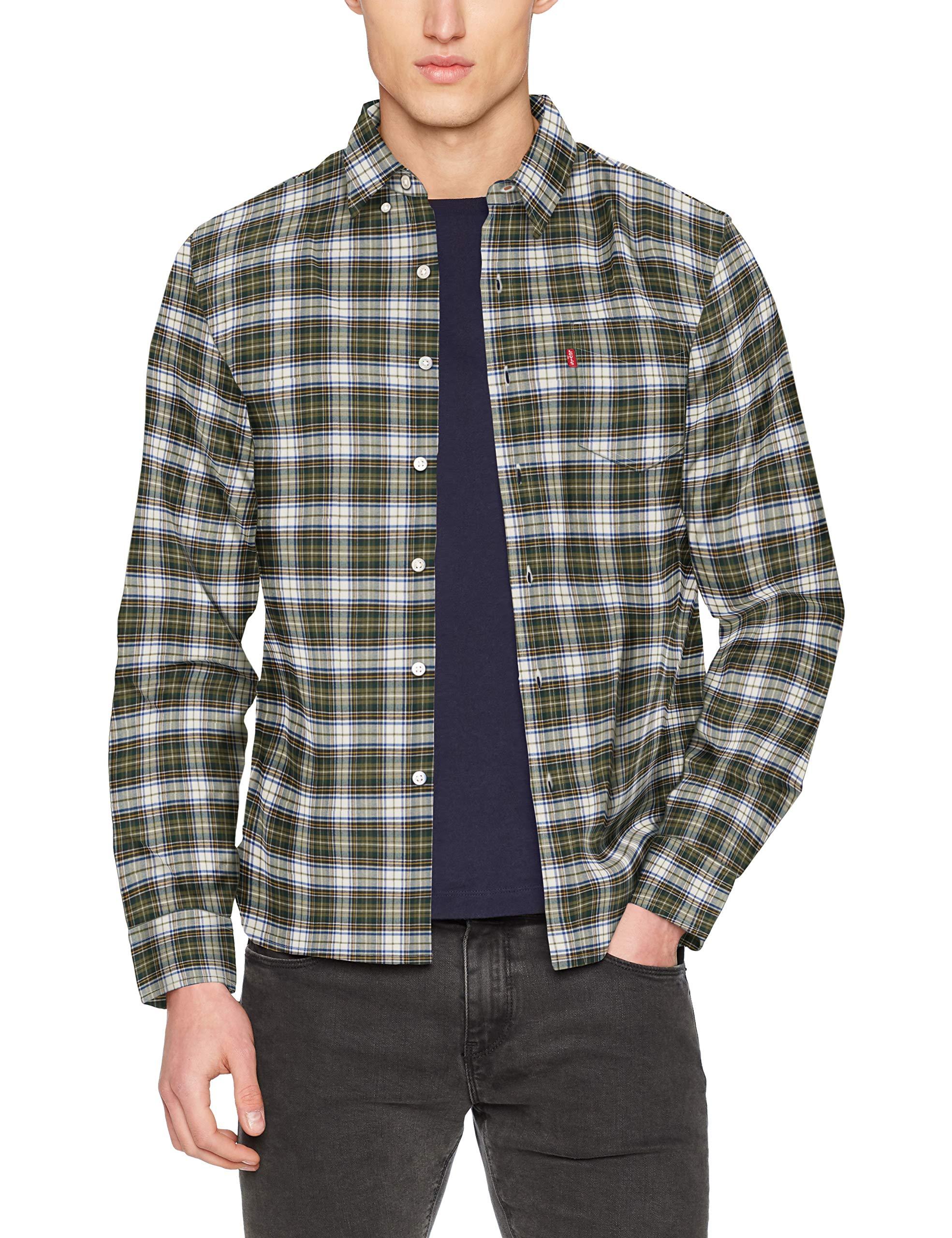 Levi's Herren Sunset 1 Pocket Shirt Freizeithemd, Mehrfarbig (Waconia Pine Grove 0431), Large