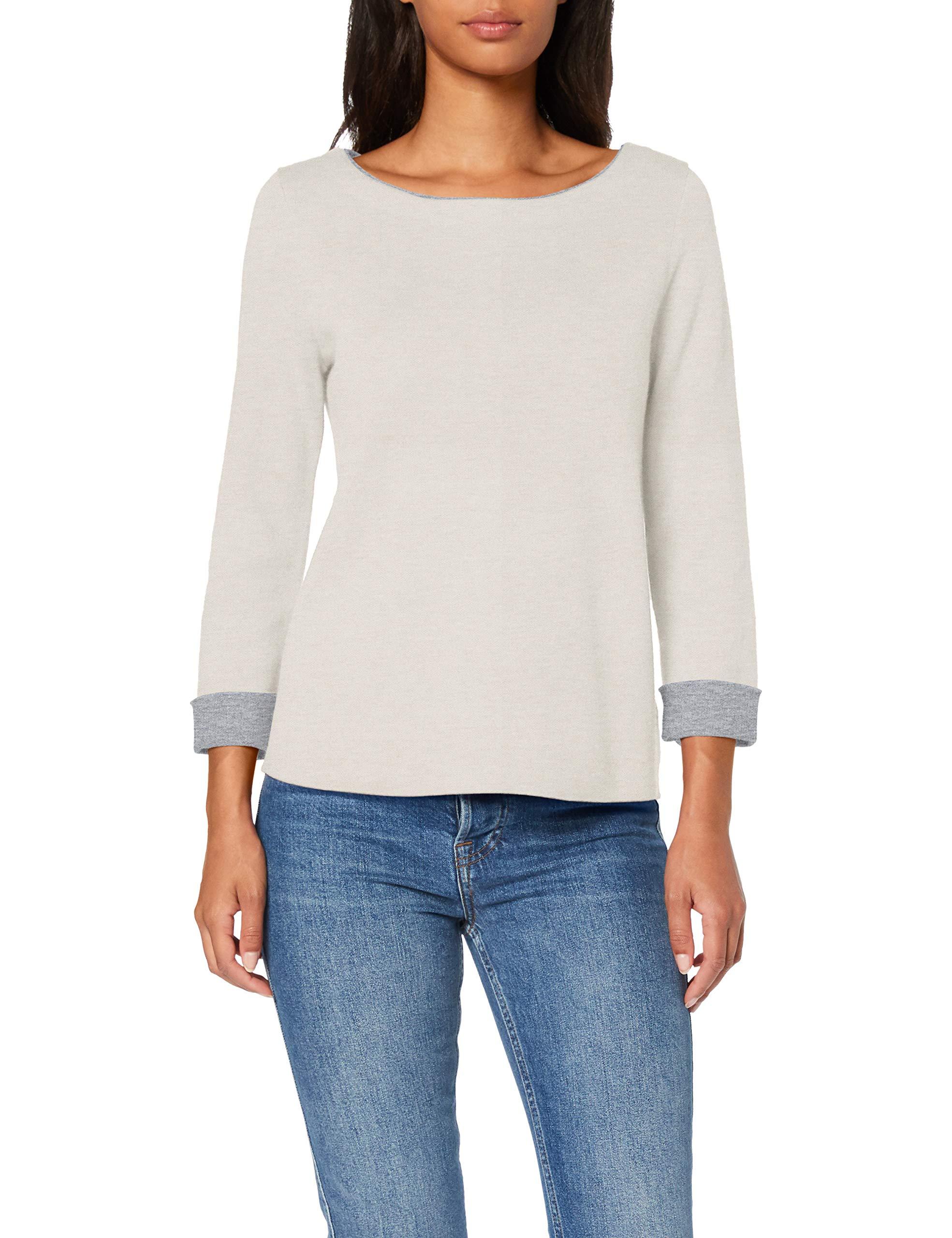 Sisley Damen Pullover LS, Grau (Grey Melange 901), Small