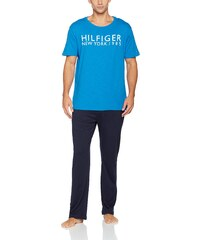 dc594c2e06 Tommy Hilfiger Herren Schlafanzug Set SS Short Set Logo, Mehrfarbig (Daphne/Navy  Blazer