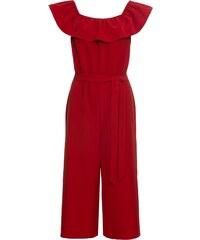 ea8cace90c4e03 BODYFLIRT Jumpsuit mit Carmen-Ausschnitt in rot von bonprix - Glami.de