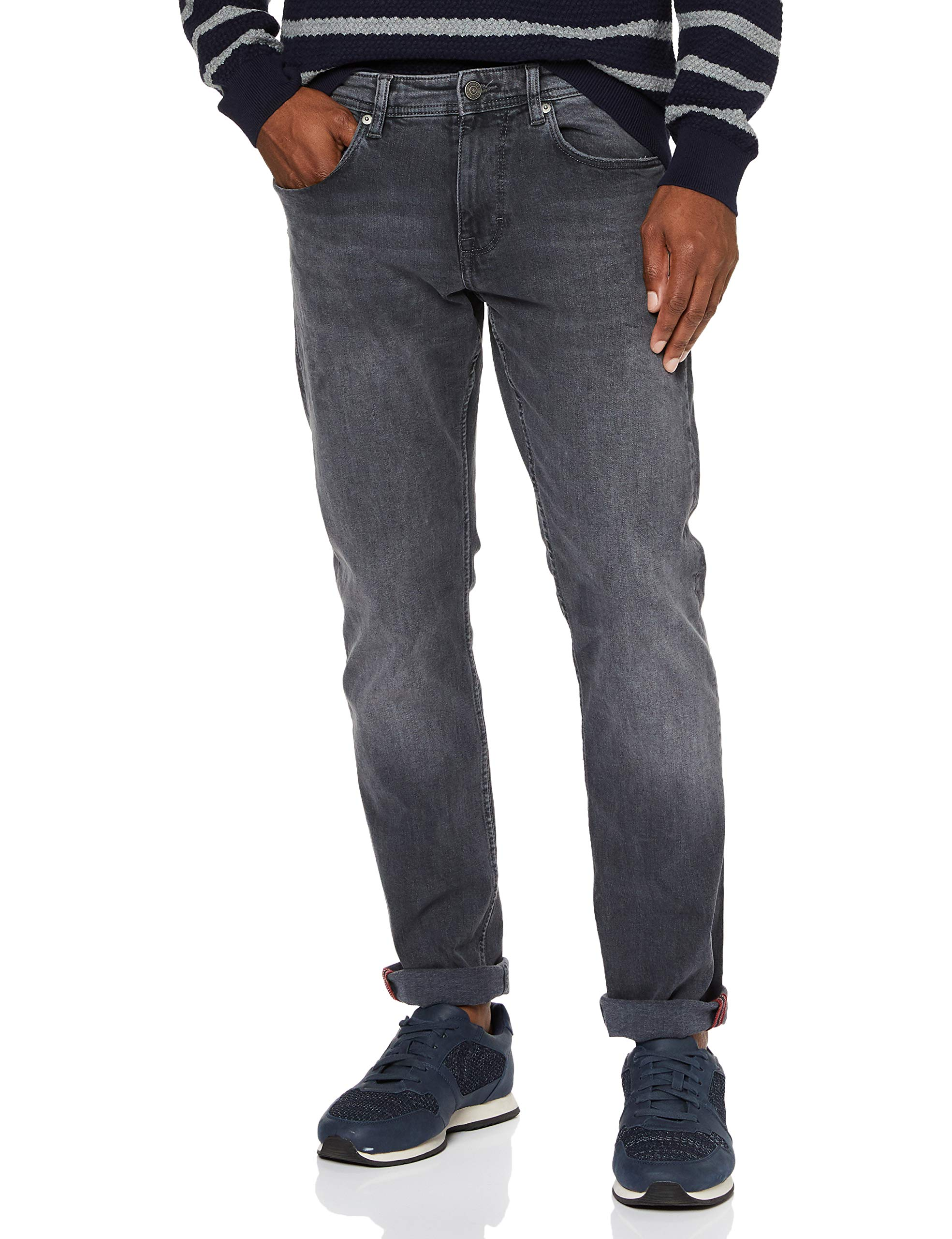 s.Oliver Herren 13.909.71.5702 Slim Jeans, Grau (GreyBlack Denim Stretch 95z4), W33 (Herstellergröße: 33)