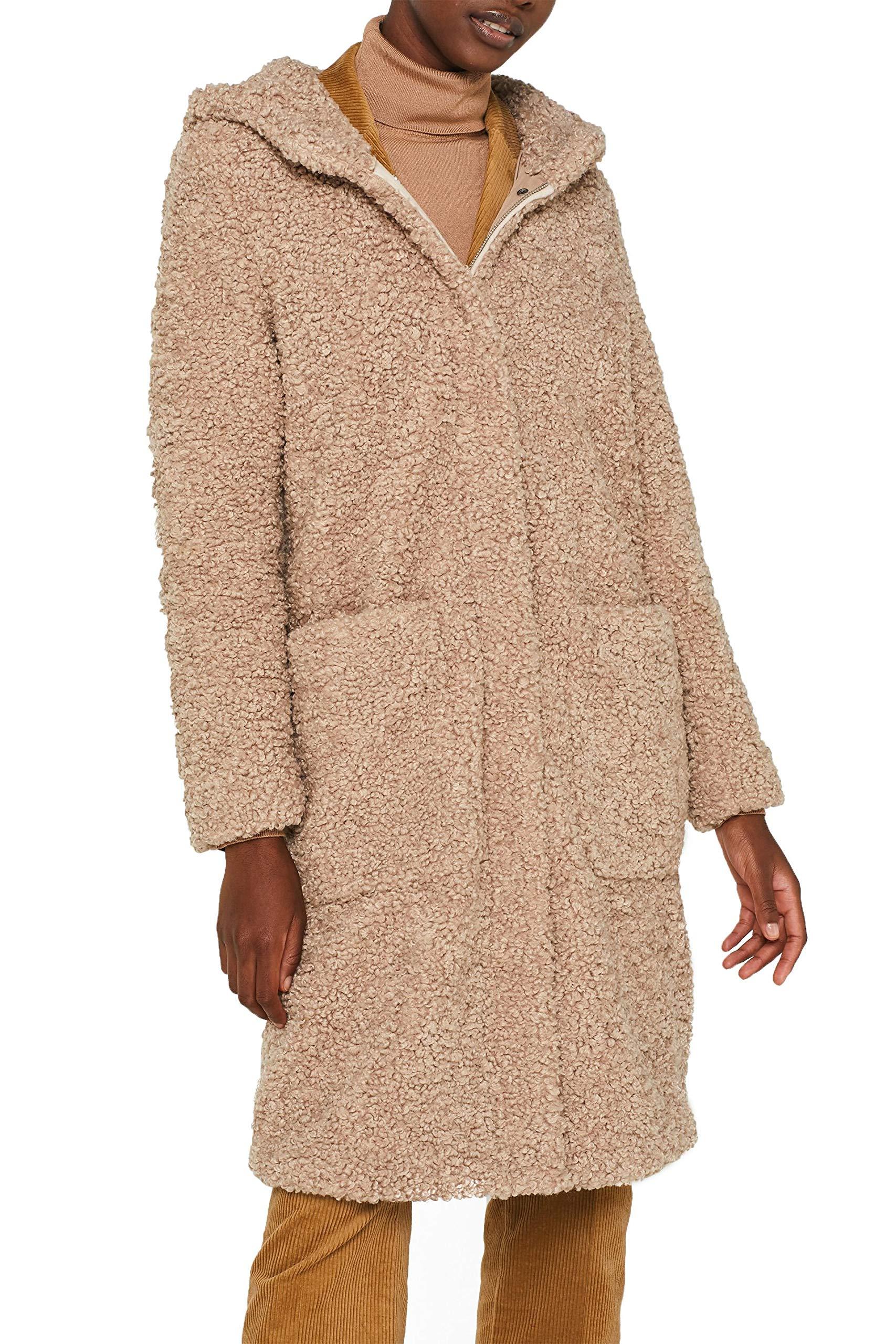 ESPRIT Damen 109Ee1G020 Mantel, Beige (Beige 270), (Herstellergröße: XX Large)