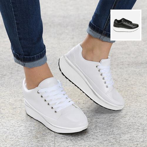 Wählen Sie für offizielle Herbst Schuhe gut aussehend Lesara Fitness-Sneaker Unifarben - 35 - Weiß - Glami.de