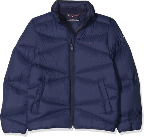 Tommy Hilfiger Jungen Jacke Packable Light Jacket, Blau