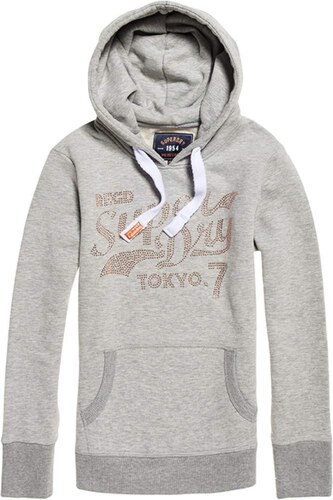 new styles 8d3e1 cf11a Superdry Damen Tokyo 7 Rstone College Entry Hood Pullover ...