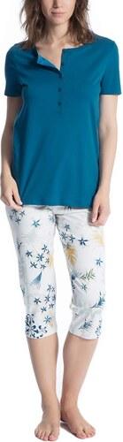 5d3f37b014278e Calida Damen Zweiteiliger Schlafanzug Cosy Boho Mehrfarbig (Faience ...
