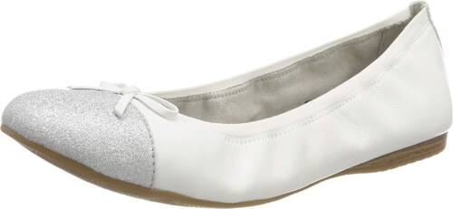Tamaris Damen 1 1 22129 22 100 Geschlossene Ballerinas Weiß
