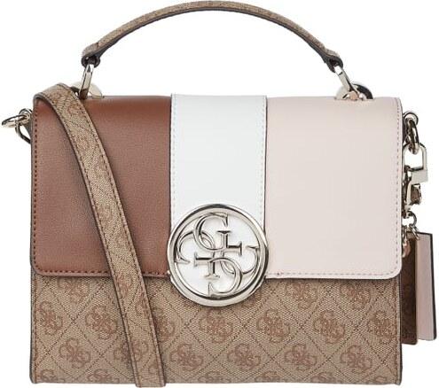 Guess – Crossbody Bag mit Logo Muster – Schwarz