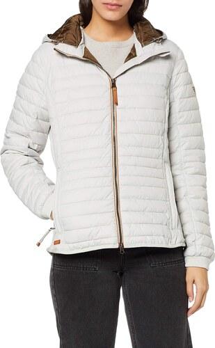camel active Womenswear Damen 2R48 Jacke, Beige (Ecru 11