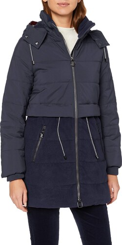 ESPRIT Damen 099Ee1G043 Mantel, Blau (Navy 400), Medium