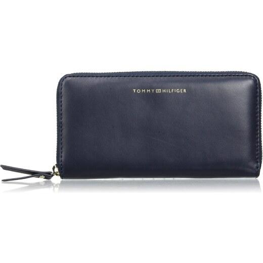 Tommy Hilfiger Damen Smooth Leather Lrg Za Wallet Kuriertasche, Blau (Tommy Navy), 14x27x40 cm