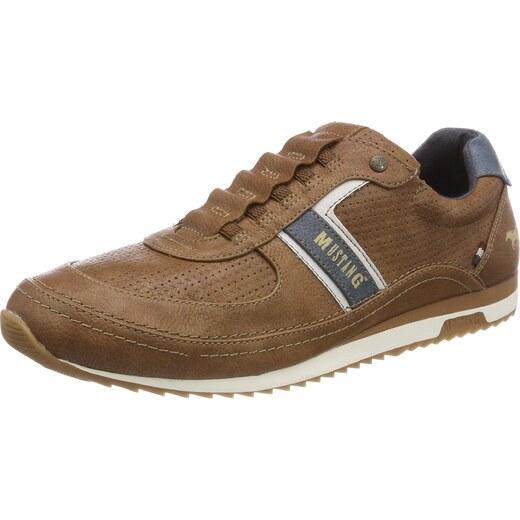 MUSTANG Herren 4125 402 307 Slip On Sneaker, Braun (Cognac), 43 EU