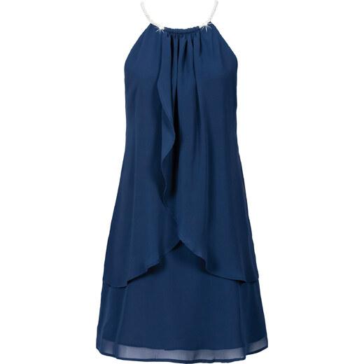 Chiffonkleid mit collier blau
